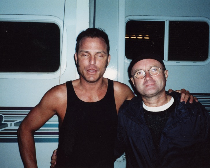 PHil Collins video shoot